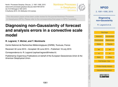 Diagnosing Non-gaussianity of Forecast a... by Legrand, R.