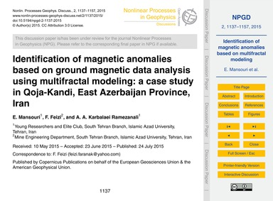 Identification of Magnetic Anomalies Bas... by Mansouri, E.