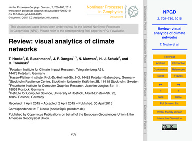 Review: Visual Analytics of Climate Netw... by Nocke, T.