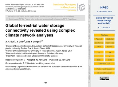 Global Terrestrial Water Storage Connect... by Sun, A. Y.
