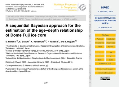 A Sequential Bayesian Approach for the E... by Nakano, S.