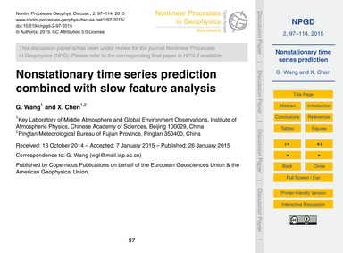 Nonstationary Time Series Prediction Com... by Wang, G.