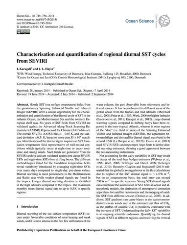 Characterisation and Quantification of R... by Karagali, I.