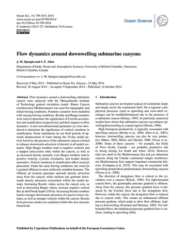Flow Dynamics Around Downwelling Submari... by Spurgin, J. M.