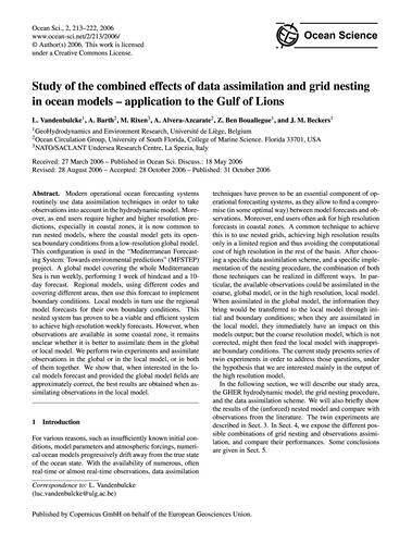 Study of the Combined Effects of Data As... by Vandenbulcke, L.