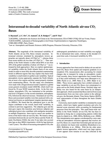 Interannual-to-decadal Variability of No... by Raynaud, S.