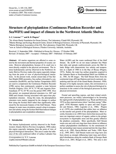 Structure of Phytoplankton (Continuous P... by Leterme, S. C.