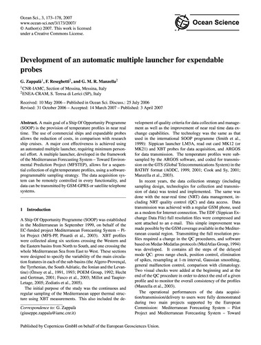 Development of an Automatic Multiple Lau... by Zappalà, G.