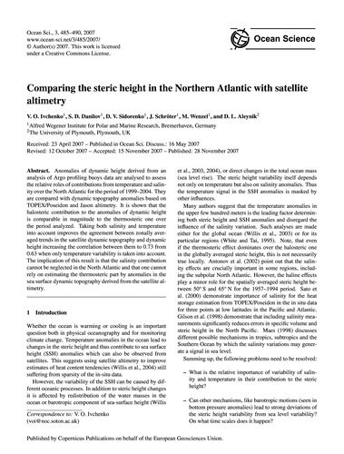 Comparing the Steric Height in the North... by Ivchenko, V. O.