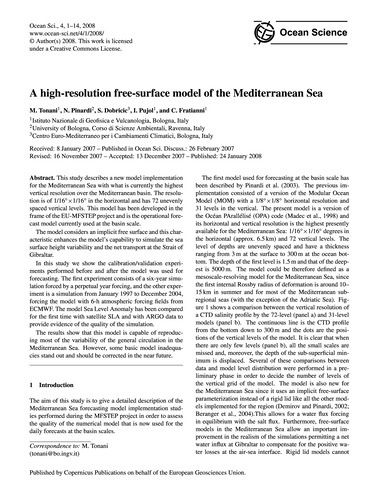 A High-resolution Free-surface Model of ... by Tonani, M.