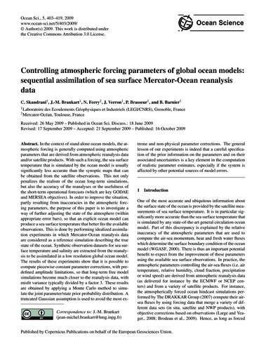 Controlling Atmospheric Forcing Paramete... by Skandrani, C.