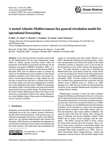 A Nested Atlantic-mediterranean Sea Gene... by Oddo, P.