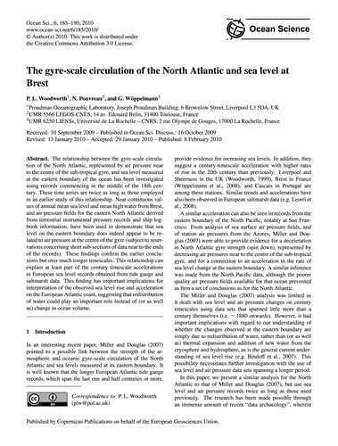 The Gyre-scale Circulation of the North ... by Woodworth, P. L.