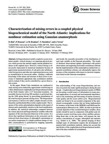 Characterization of Mixing Errors in a C... by Béal, D.