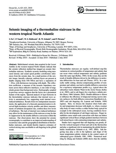 Seismic Imaging of a Thermohaline Stairc... by Fer, I.