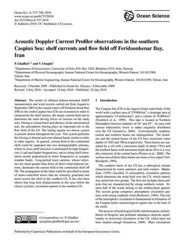 Acoustic Doppler Current Profiler Observ... by Ghaffari, P.