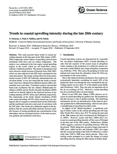 Trends in Coastal Upwelling Intensity Du... by Narayan, N.