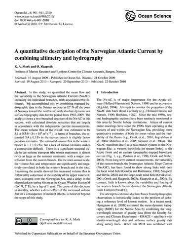 A Quantitative Description of the Norweg... by Mork, K. A.
