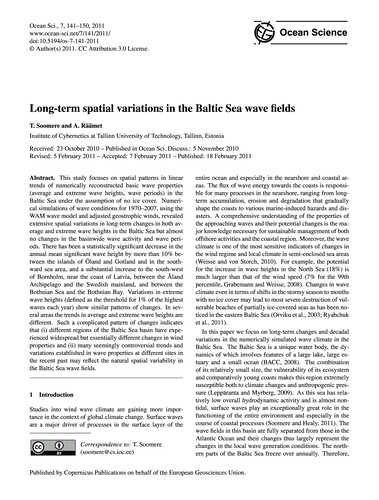 Long-term Spatial Variations in the Balt... by Soomere, T.