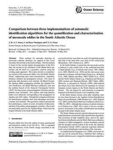 Comparison Between Three Implementations... by Souza, J. M. A. C.