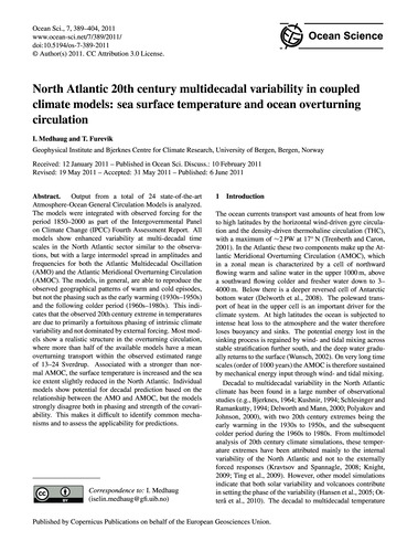 North Atlantic 20Th Century Multidecadal... by Medhaug, I.
