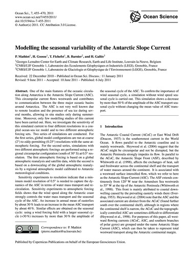 Modelling the Seasonal Variability of th... by Mathiot, P.