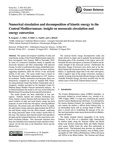 Numerical Simulation and Decomposition o... by Sorgente, R.