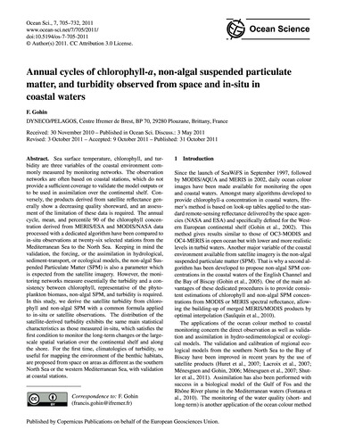 Annual Cycles of Chlorophyll-A, Non-alga... by Gohin, F.