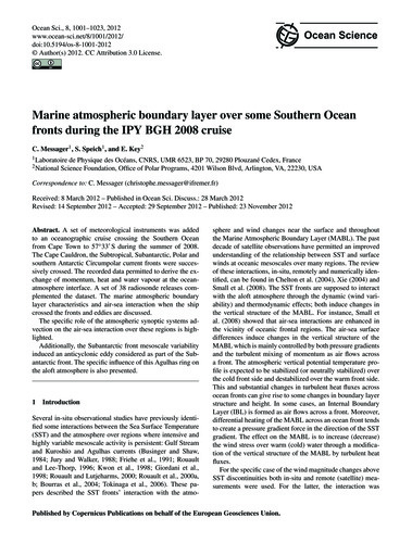 Marine Atmospheric Boundary Layer Over S... by Messager, C.