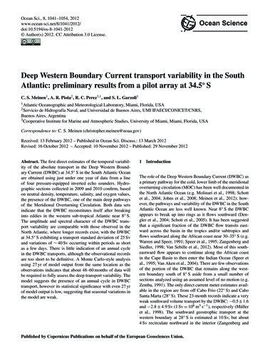 Deep Western Boundary Current Transport ... by Meinen, C. S.
