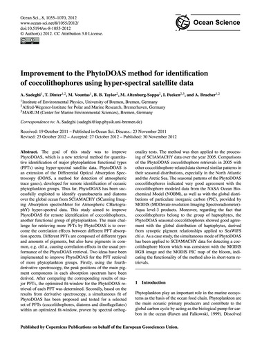 Improvement to the Phytodoas Method for ... by Sadeghi, A.