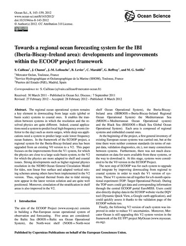 Towards a Regional Ocean Forecasting Sys... by Cailleau, S.