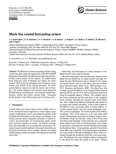 Black Sea Coastal Forecasting System : V... by Kubryakov, A. I.