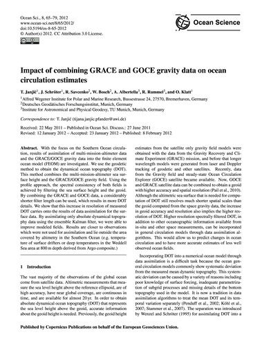 Impact of Combining Grace and Goce Gravi... by Janjić, T.