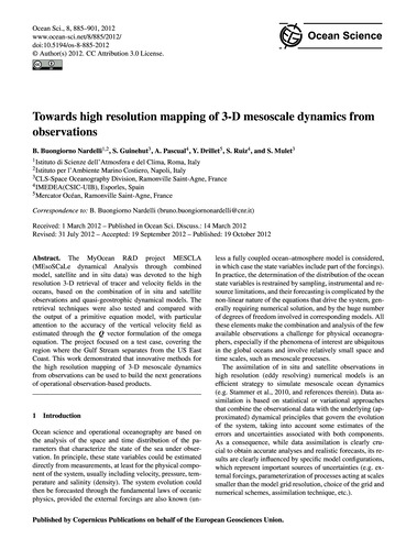 Towards High Resolution Mapping of 3-d M... by Buongiorno Nardelli, B.