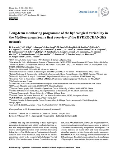 Long-term Monitoring Programme of the Hy... by Schroeder, K.