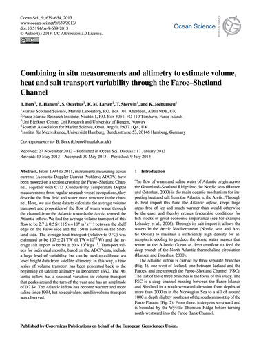 Combining in Situ Measurements and Altim... by Berx, B.