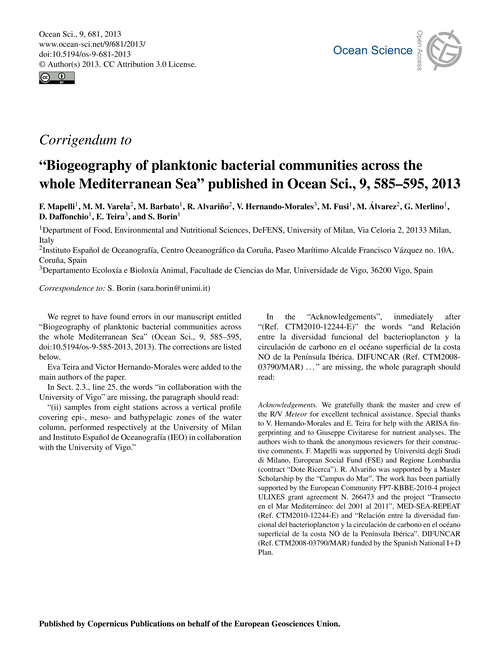Corrigendum to Biogeography of Planktoni... by Mapelli, F.