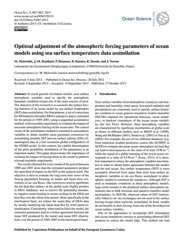 Optimal Adjustment of the Atmospheric Fo... by Meinvielle, M.