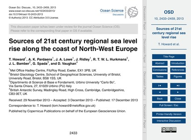 Sources of 21St Century Regional Sea Lev... by Howard, T.