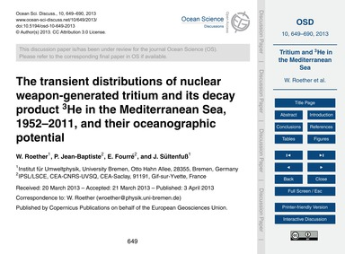 The Transient Distributions of Nuclear W... by Roether, W.