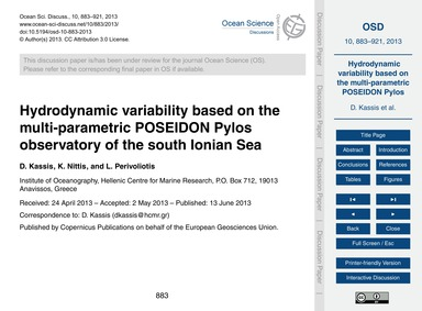 Hydrodynamic Variability Based on the Mu... by Kassis, D.