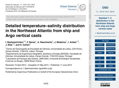 Detailed Temperature–salinity Distributi... by Bashmachnikov, I.