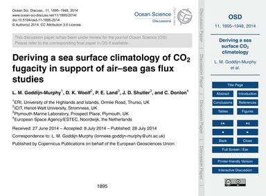Deriving a Sea Surface Climatology of Co... by Goddijn-murphy, L. M.