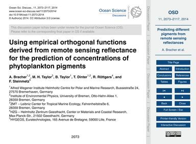 Using Empirical Orthogonal Functions Der... by Bracher, A.