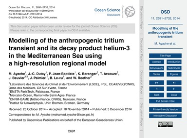 Modelling of the Anthropogenic Tritium T... by Ayache, M.