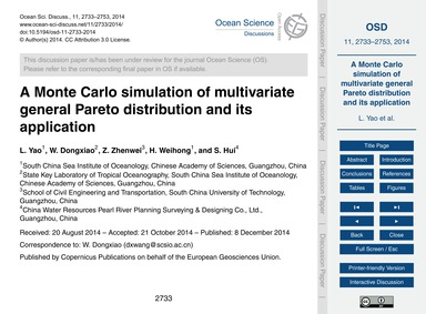A Monte Carlo Simulation of Multivariate... by Yao, L.