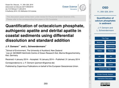 Quantification of Octacalcium Phosphate,... by Oxmann, J. F.