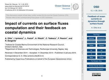 Impact of Currents on Surface Fluxes Com... by Olita, A.