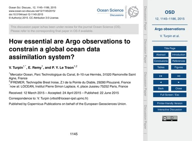 How Essential Are Argo Observations to C... by Turpin, V.